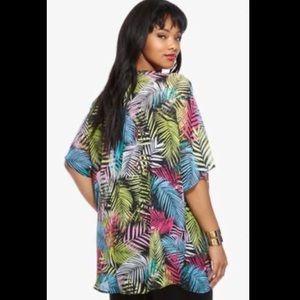 FTF Fashion To Figure kimono beach cover up palm